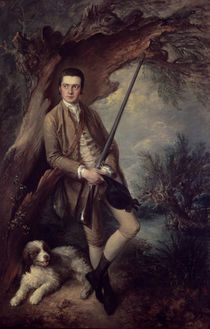 William Poyntz of Midgham and his Dog Amber by Thomas Gainsborough