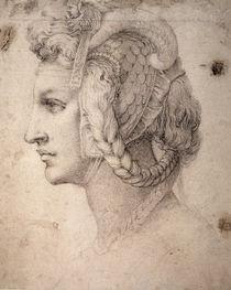 Study of Head by Michelangelo Buonarroti