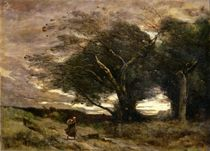 Gust of Wind, 1866 by Jean Baptiste Camille Corot