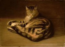 Recumbent Cat, 1898 by Theophile Alexandre Steinlen