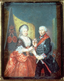 King Frederick II and his wife by Anton Friedrich Konig