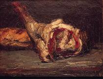 Still Life of a Leg of Mutton and Bread von Paul Cezanne