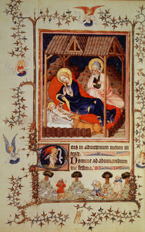 Nouv Lat 3093 f.42 Nativity and Visitation of the shepherds by French School
