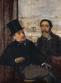 Self Portrait with Evariste de Valernes c.1865 by Edgar Degas