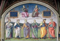 Lunette of Prudence and Justice by Pietro Perugino
