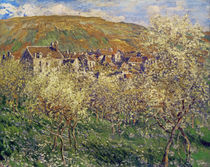 Plum Trees in Blossom, 1879 von Claude Monet