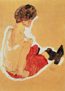 Seated Woman, 1911 by Egon Schiele