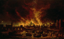 The Great Fire of London in 1666 by Lieve Verschuier