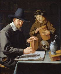 The Painter and his Pupil by Constantin Verhout or Voorhout