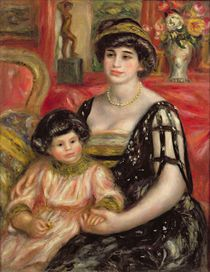 Madame Josse Bernheim-Jeune and her Son Henry by Pierre-Auguste Renoir