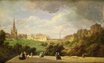 View of Edinburgh, the Walter Scott Monument von Pierre Justin Ouvrie