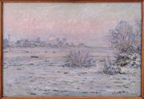 Snowy Landscape at Twilight by Claude Monet