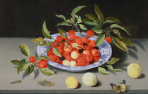 Still Life of Cherries and Peaches by Balthasar van der Ast