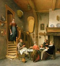 A Family Saying Grace by Jan Havicksz Steen