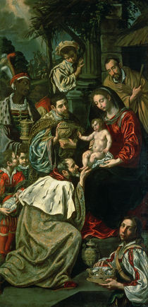 The Adoration of the Magi, 1620 von Luis Tristan de Escamilla