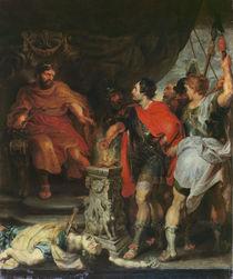 Mucius Scaevola before Lars Porsena by Peter Paul Rubens