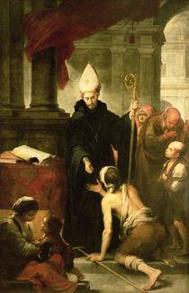 St. Thomas of Villanueva Distributing Alms von Bartolome Esteban Murillo