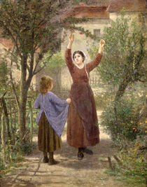 Picking Cherries von Paul Seignac