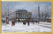 The Place du Chatelet, Paris by Eugene Galien-Laloue