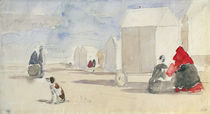 By the Bathing Machines, 1866 by Eugene Louis Boudin