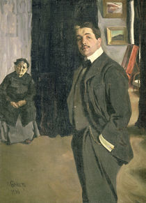 Portrait of Sergei Pavlovich Diaghilev with his Nurse von Leon Bakst