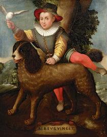 Boy and Dog, `Bibius Vincit' by Sofonisba Anguissola