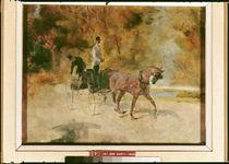A Dog-Cart, 1880 by Henri de Toulouse-Lautrec