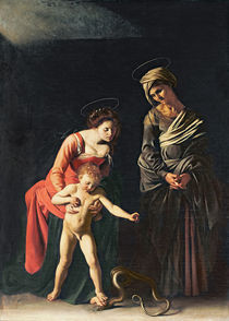 Madonna and Child with a Serpent by Michelangelo Merisi da Caravaggio