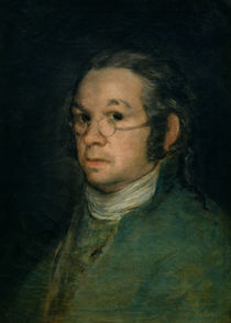 Self portrait with spectacles von Francisco Jose de Goya y Lucientes