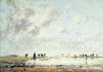 Low Tide at Etaples, 1886 von Eugene Louis Boudin