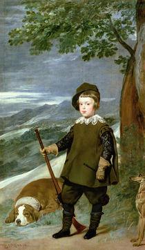 Prince Balthasar Carlos Dressed as a Hunter by Diego Rodriguez de Silva y Velazquez