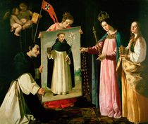 The Apparition of the Virgin to the Monk of Soriano von Francisco de Zurbaran