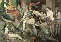 Conquest of Mexico: Hernando Cortes Opposed to Human Sacrifice by Nicholas Eustache Maurin