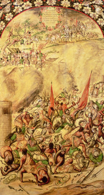 Conquest of Mexico: the Spaniards retreating by Miguel and Juan Gonzalez