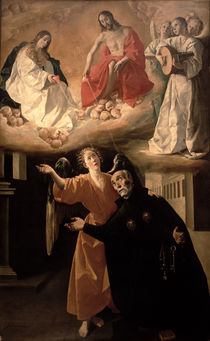 The Vision of St. Alphonsus Rodriguez by Francisco de Zurbaran