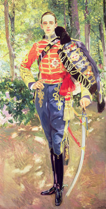 Portrait of King Alfonso XIII wearing the uniform of the Hussars by Joaquin Sorolla y Bastida