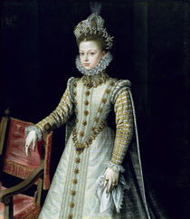 The Infanta Isabel Clara Eugenie 1579 von Alonso Sanchez Coello