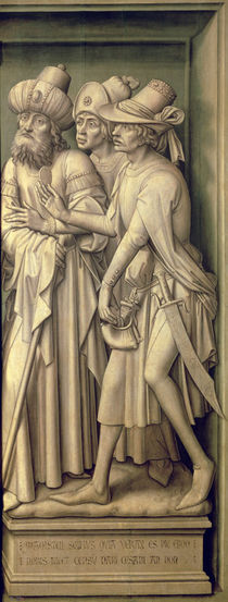 Three Pharisees with Caesar's Coin von Rogier van der Weyden