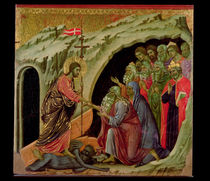 Maesta: Descent into Limbo by Duccio di Buoninsegna