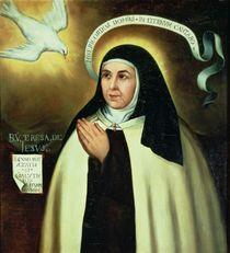 St. Teresa of Avila 1570 von Juan de la Miseria