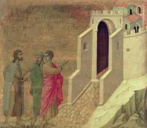 Maesta: Christ Appearing on the Road to Emmaus von Duccio di Buoninsegna