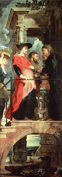 The Visitation, left panel from the Descent from the Cross Triptych by Peter Paul Rubens