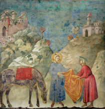 St. Francis Gives his Coat to a Stranger by Giotto di Bondone