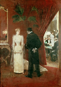 The Private Conversation, 1904 by Jean Beraud