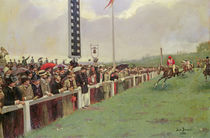 The Course at Longchamps, 1886 by Jean Beraud