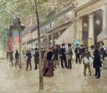 The Boulevard Montmartre and the Theatre des Varietes von Jean Beraud