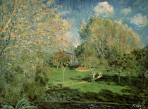 The Garden of Hoschede Family by Alfred Sisley