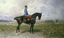Emperor Franz Joseph I on his Austrian horse by Julius von Blaas