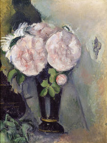Flowers in a Blue Vase, c.1886 by Paul Cezanne
