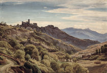 View of Olevano von Franz Theobald Horny
